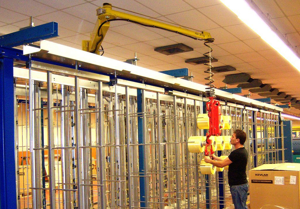 Manipulator równoważący ciężar Posifil na podwójnych linkach stalowych - Manipulatory DALMEC (14)