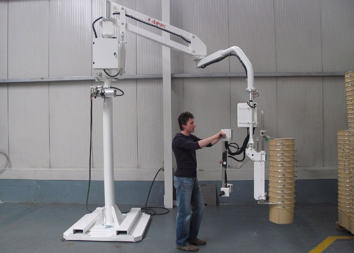 Industrial Ergonomic Arms : Pneumatic manipulator for pails ergonomic handling device