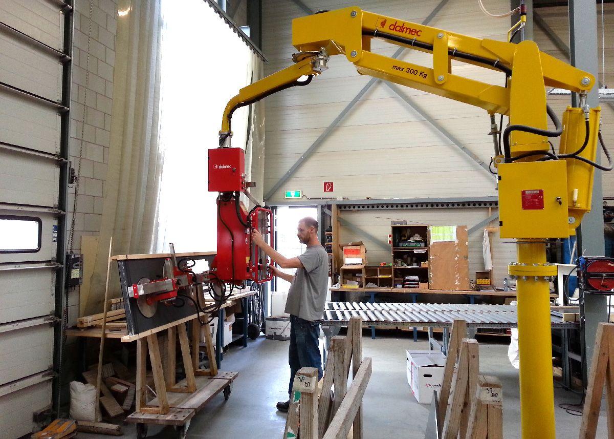 Pneumatic Lifting Arms : Lifting arm panels handling dalmec pneumatic manipulator