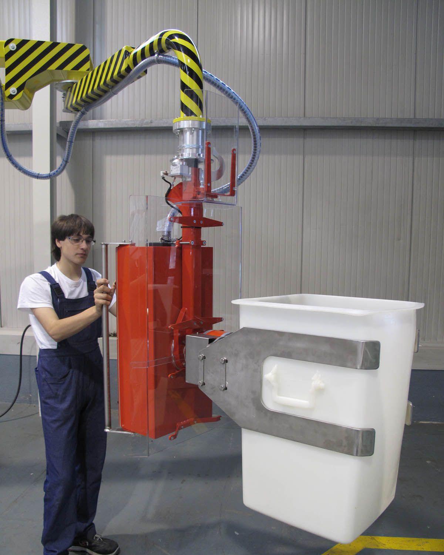 Ergonomic Industrial Manipulator : Manipulators for containers handling and emptying