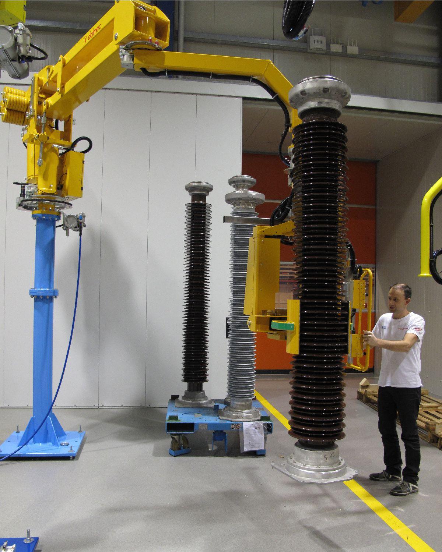 Pneumatic Manipulator Arms : Lifting arm for electrical insulators manipulator panels