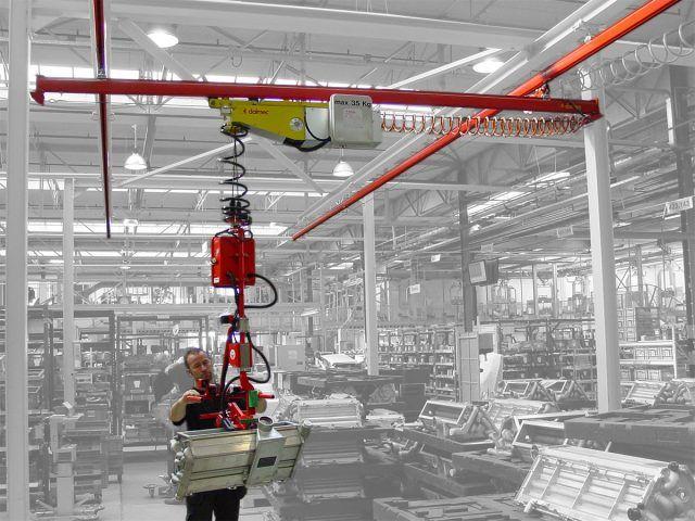 Manipulatory pneumatyczny linkowe - Balanser linkowy do kubłów Dalmec - Manipulatory DALMEC (3)