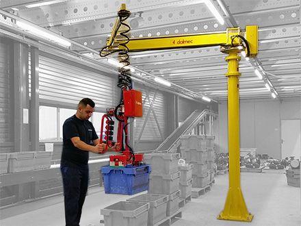 Manipulatory pneumatyczny linkowe - Balanser linkowy do kubłów Dalmec - Manipulatory DALMEC (1)