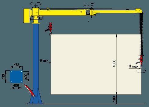 Manipulator równoważący ciężar Posifil na podwójnych linkach stalowych - Manipulatory DALMEC (2)