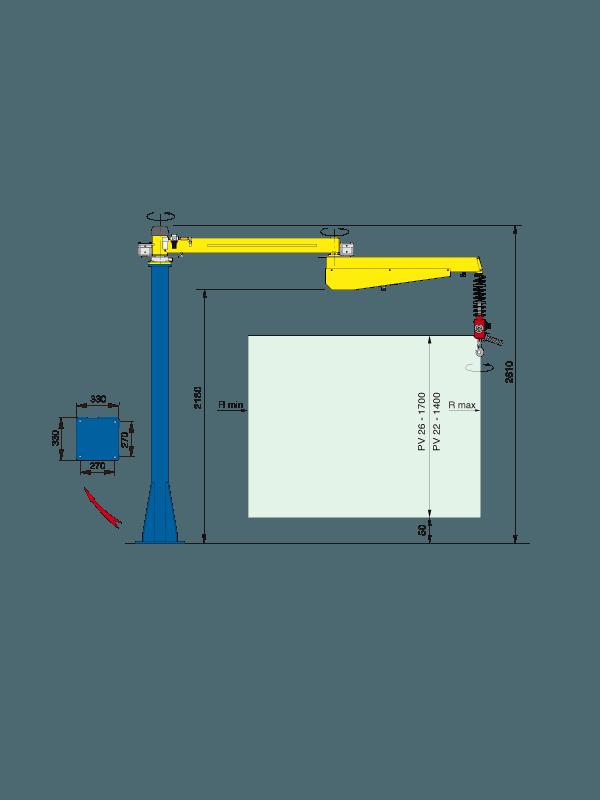 Balanser pneumatyczny typu Posivel - Balanser linkowy do kubłów Dalmec - Manipulatory DALMEC (2)