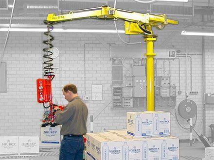 Manipulatory pneumatyczny linkowe - Balanser linkowy do kubłów Dalmec - Manipulatory DALMEC (2)