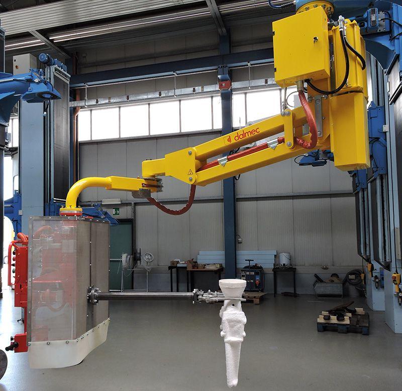 Rozwiązania dla odlewni - Manipulator przemysłowy do form odlewniczych - Manipulatory DALMEC