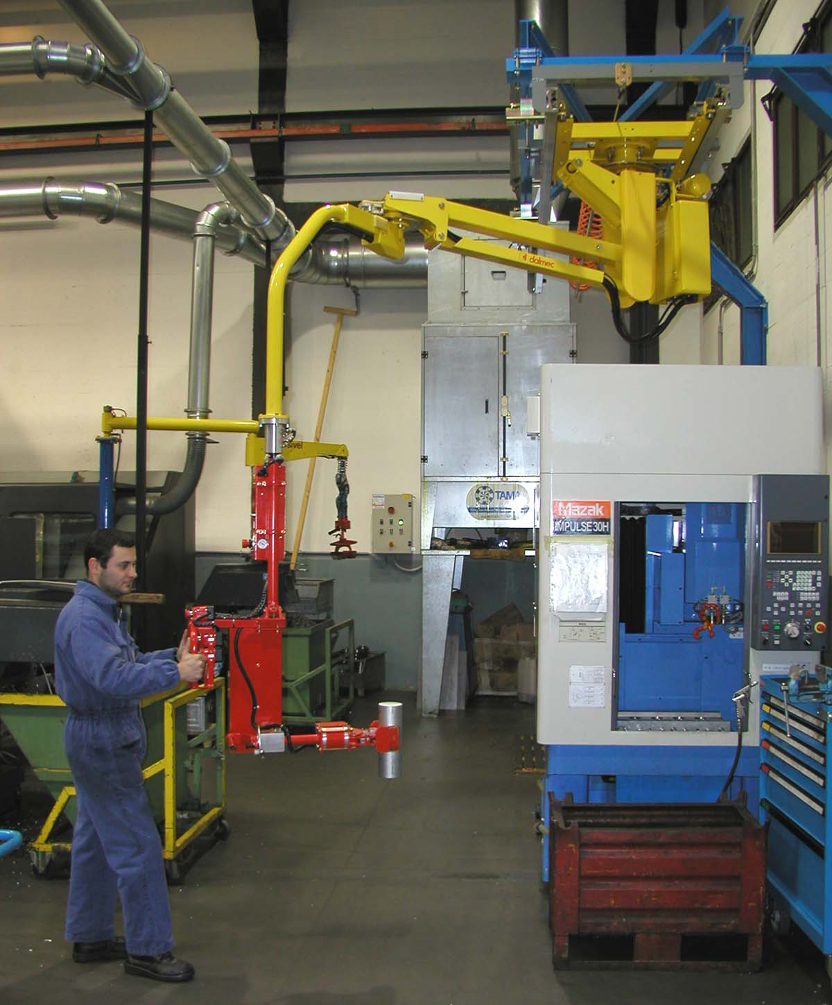 Manipulator for mechanical parts - manual handlinf of